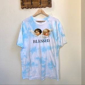 Blessed Tie Dye Angel Graphic Tee